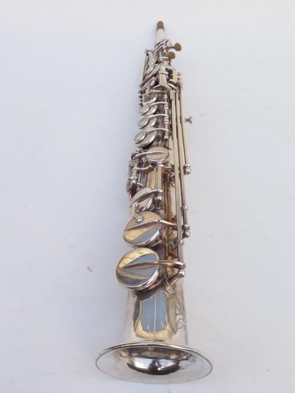 Saxophone soprano Selmer Mark 6 argenté gravé (8)