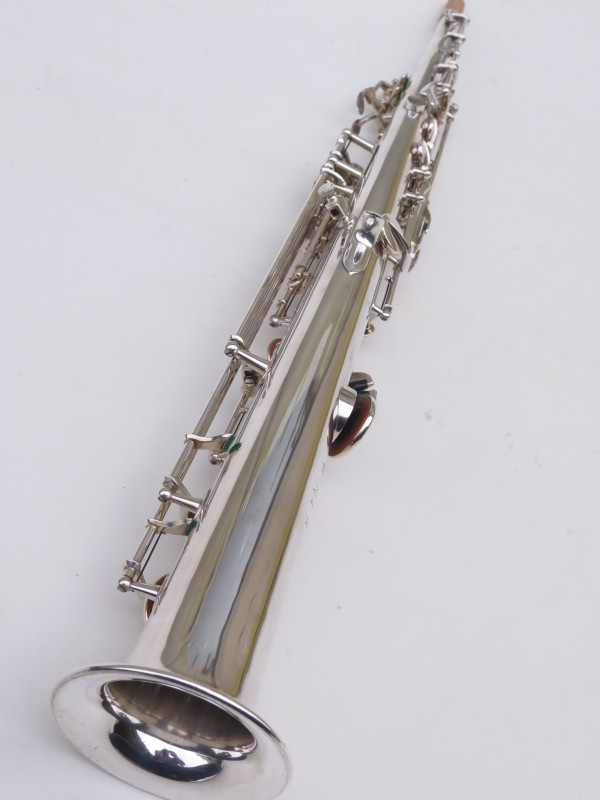 Saxophone soprano Selmer Super Balanced Action transitionnel mark 6 argenté (17)