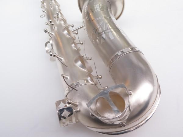 Saxophone alto Lebblanc semi rationnel argenté sablé gravé (1)