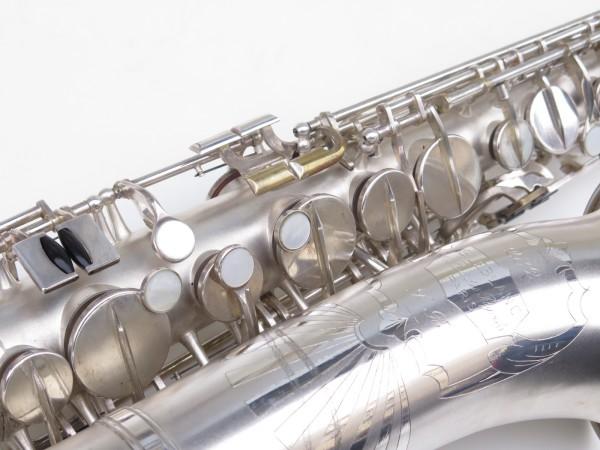 Saxophone alto Lebblanc semi rationnel argenté sablé gravé (10)