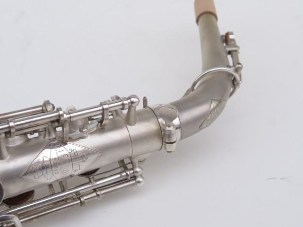 Saxophone alto Lebblanc semi rationnel argenté sablé gravé (11)