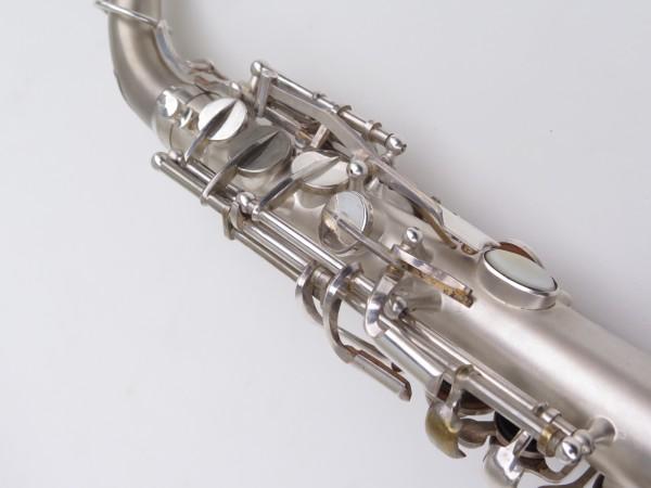 Saxophone alto Lebblanc semi rationnel argenté sablé gravé (12)
