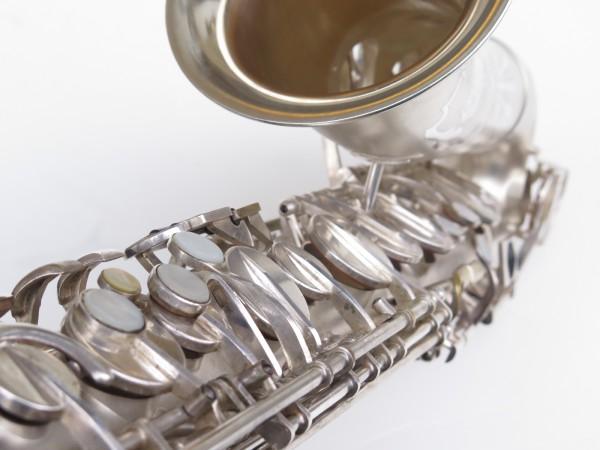 Saxophone alto Lebblanc semi rationnel argenté sablé gravé (13)