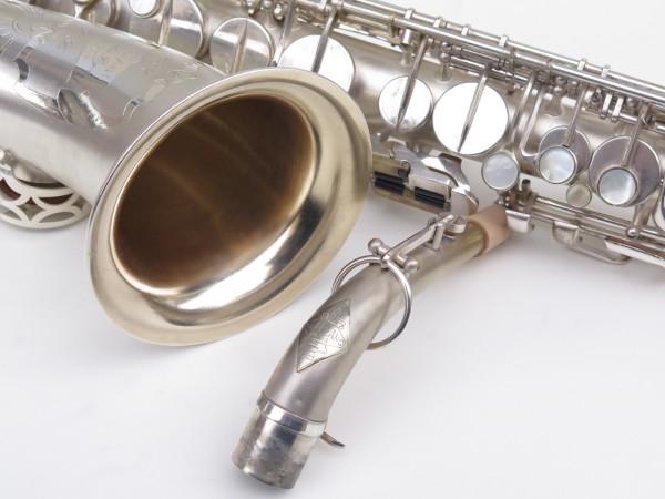Saxophone alto Lebblanc semi rationnel argenté sablé gravé (14)