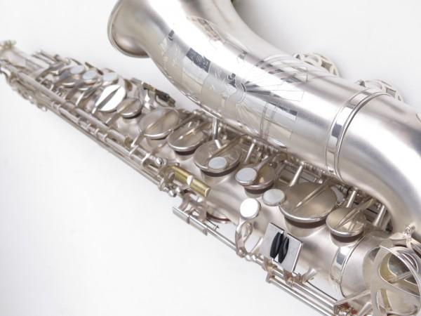 Saxophone alto Lebblanc semi rationnel argenté sablé gravé (15)