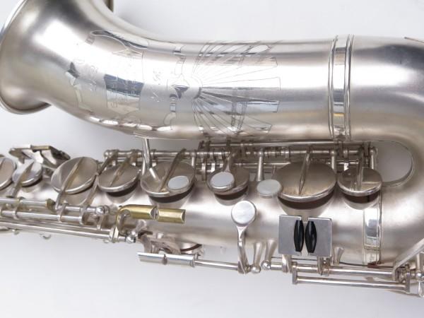 Saxophone alto Lebblanc semi rationnel argenté sablé gravé (16)