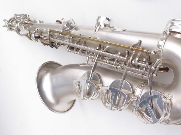 Saxophone alto Lebblanc semi rationnel argenté sablé gravé (18)