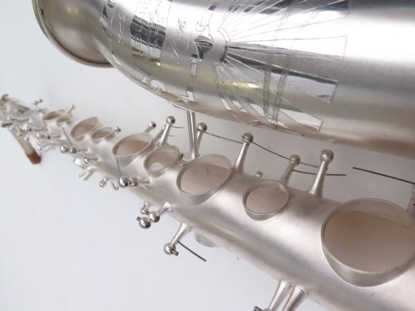 Saxophone alto Lebblanc semi rationnel argenté sablé gravé (21)