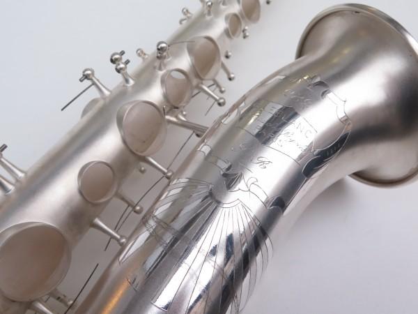 Saxophone alto Lebblanc semi rationnel argenté sablé gravé (22)