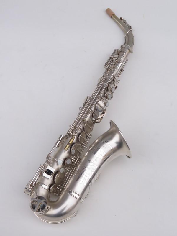 Saxophone alto Lebblanc semi rationnel argenté sablé gravé (7)