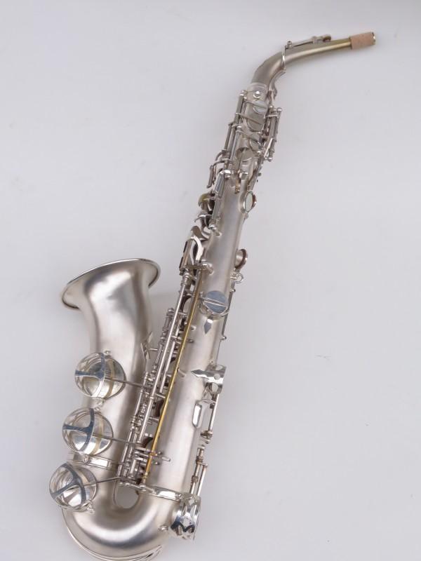Saxophone alto Lebblanc semi rationnel argenté sablé gravé (8)