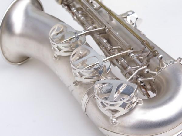 Saxophone alto Lebblanc semi rationnel argenté sablé gravé (9)