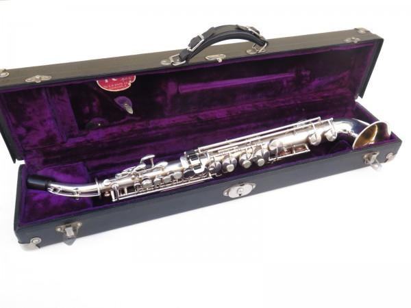 saxophone soprano King Saxello argenté sablé plaqué or (1)