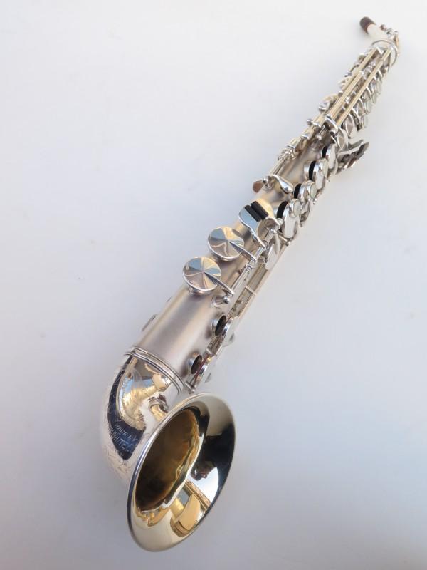 saxophone soprano King Saxello argenté sablé plaqué or (11)