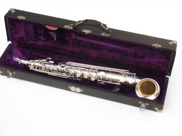 saxophone soprano King Saxello argenté sablé plaqué or (12)