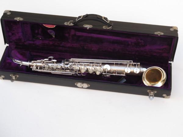 saxophone soprano King Saxello argenté sablé plaqué or (13)