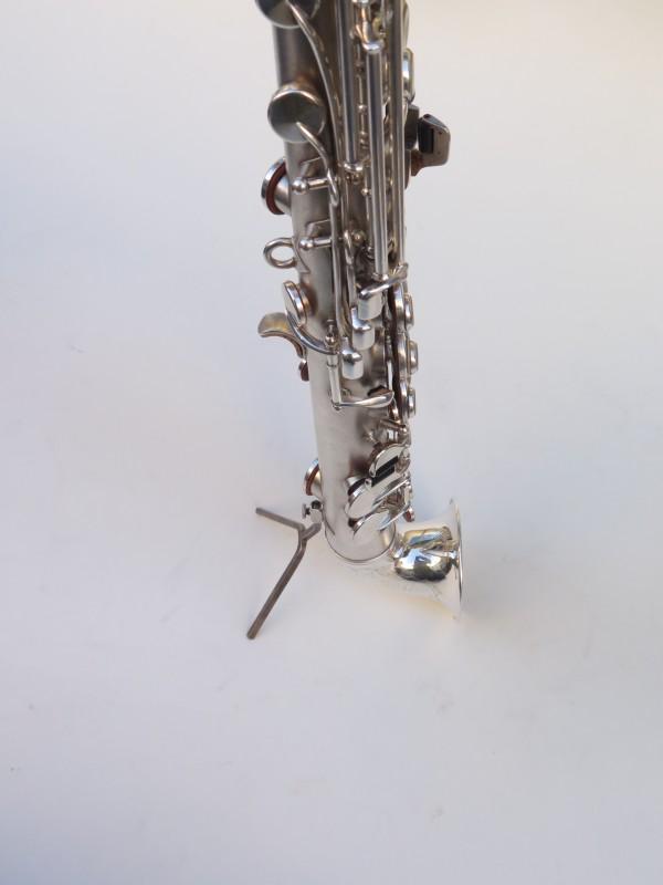 saxophone soprano King Saxello argenté sablé plaqué or (14)