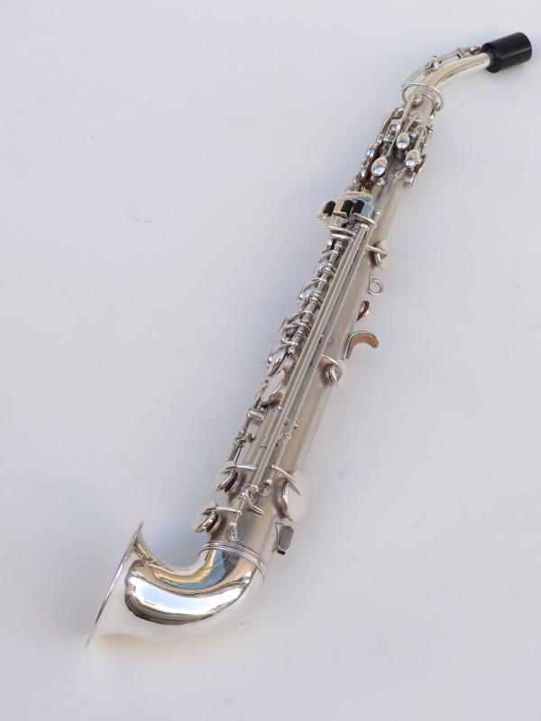 saxophone soprano King Saxello argenté sablé plaqué or (4)