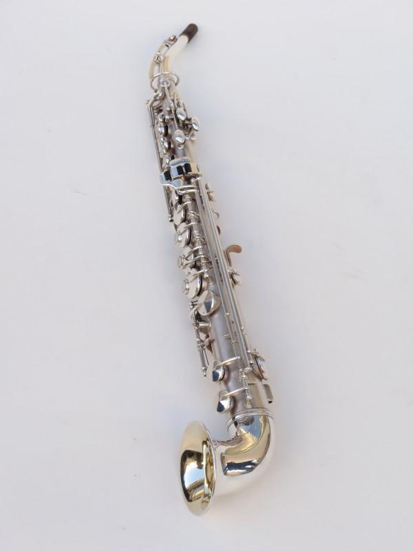 saxophone soprano King Saxello argenté sablé plaqué or (5)