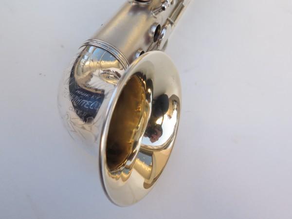 saxophone soprano King Saxello argenté sablé plaqué or (7)