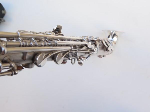 saxophone soprano King Saxello argenté sablé plaqué or (8)