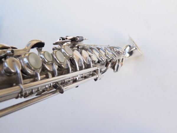 saxophone soprano King Saxello argenté sablé plaqué or (9)