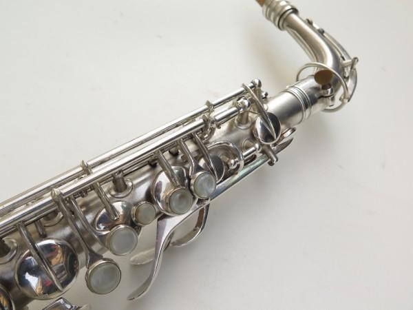 Saxophone alto Conn Chu Berry argenté sablé (15)