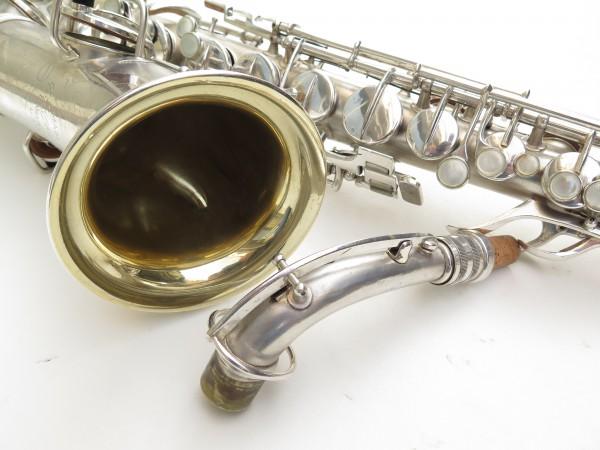 Saxophone alto Conn Chu Berry argenté sablé (17)