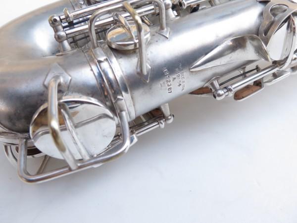 Saxophone alto Conn Chu Berry argenté sablé (7)