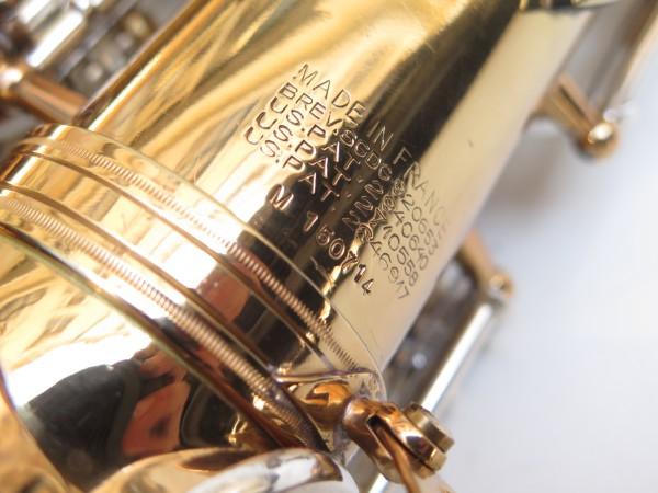 Saxophone alto Selmer Mark 6 verni clétage argenté (16)