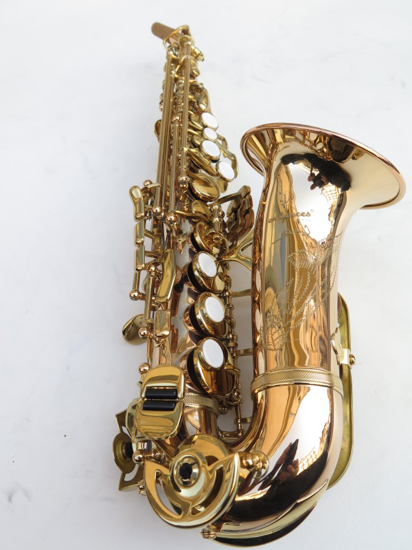 Saxophone soprano courbe Advences cuivre rose (2)