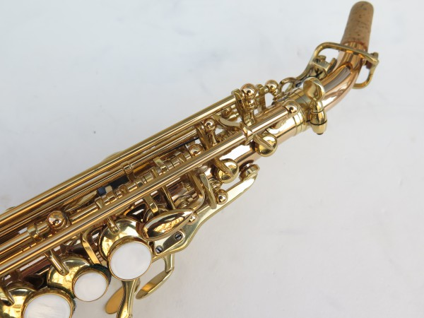 Saxophone soprano courbe Advences cuivre rose (7)