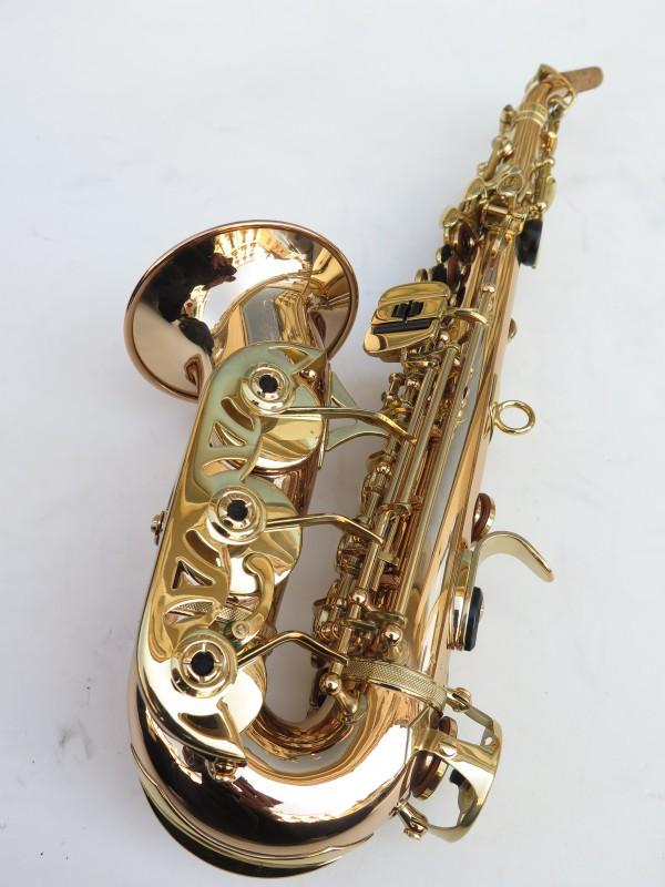 Saxophone soprano courbe Advences cuivre rose (8)