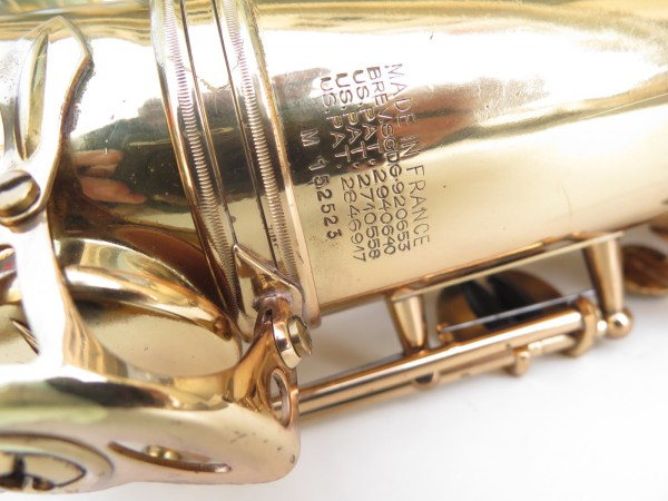 Saxophone ténor Selmer Mark 6 verni gravé (12)
