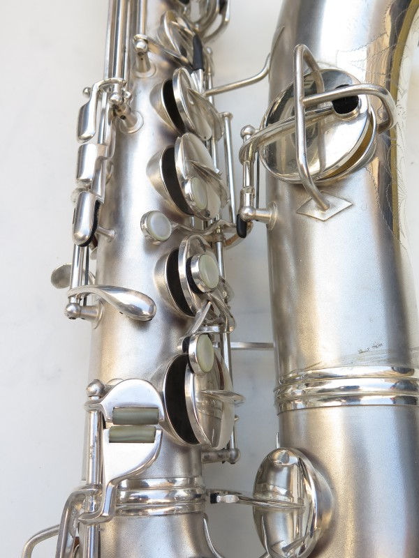 Saxophone C Melody Conn New Wonder 2 argenté sablé (17)
