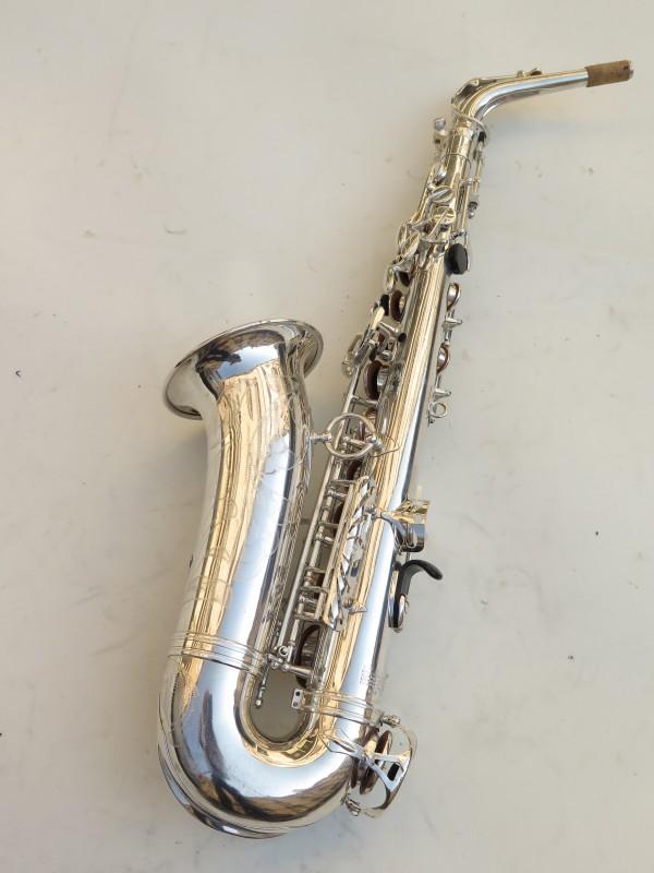 Saxophone alto Selmer Mark 6 argenté gravé (10)