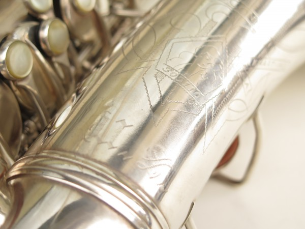 Saxophone alto Conn 6M 8 US Army argenté sablé ladyface (1)
