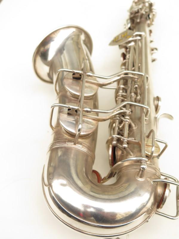 Saxophone alto Conn 6M 8 US Army argenté sablé ladyface (13)