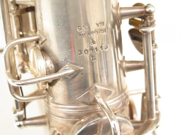 Saxophone alto Conn 6M 8 US Army argenté sablé ladyface (16)