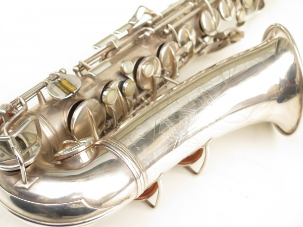 Saxophone alto Conn 6M 8 US Army argenté sablé ladyface (17)
