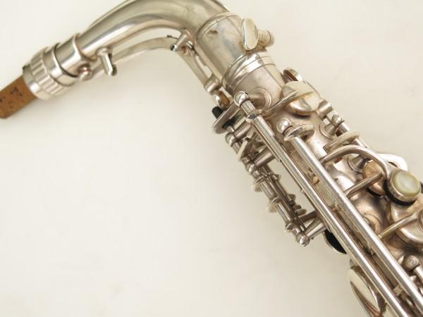 Saxophone alto Conn 6M 8 US Army argenté sablé ladyface (18)