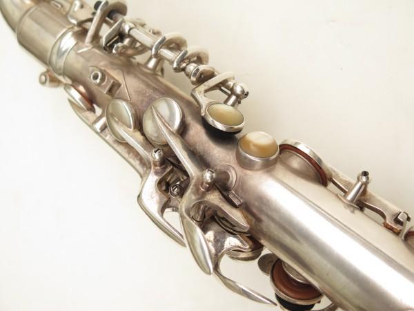 Saxophone alto Conn 6M 8 US Army argenté sablé ladyface (19)