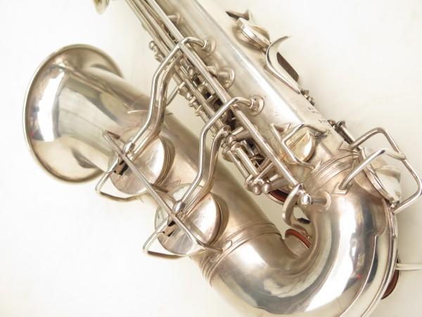 Saxophone alto Conn 6M 8 US Army argenté sablé ladyface (20)