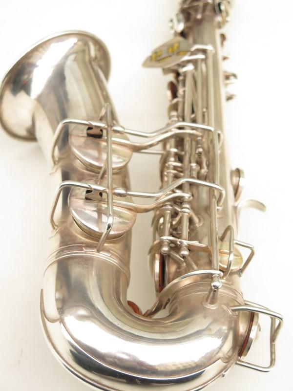 Saxophone alto Conn 6M 8 US Army argenté sablé ladyface (21)