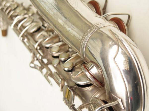 Saxophone alto Conn 6M 8 US Army argenté sablé ladyface (22)