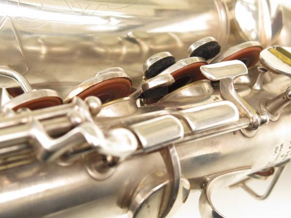 Saxophone alto Conn 6M 8 US Army argenté sablé ladyface (23)