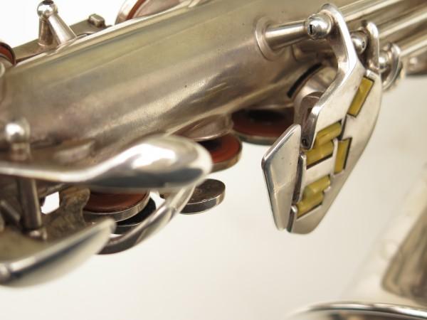 Saxophone alto Conn 6M 8 US Army argenté sablé ladyface (24)