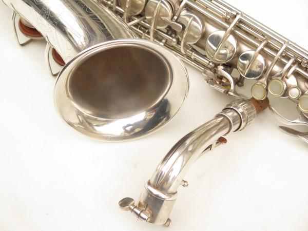 Saxophone alto Conn 6M 8 US Army argenté sablé ladyface (25)