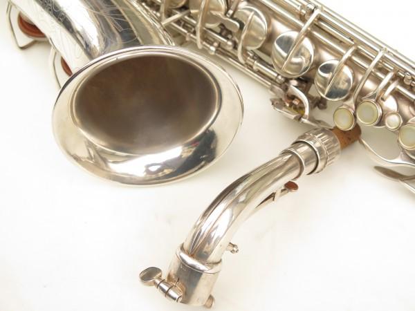 Saxophone alto Conn 6M 8 US Army argenté sablé ladyface (27)