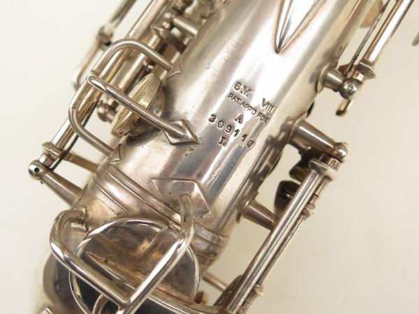 Saxophone alto Conn 6M 8 US Army argenté sablé ladyface (4)